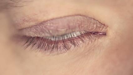 Man slowmo eye