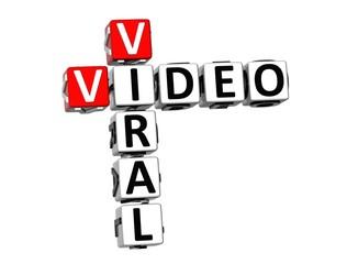 3D Crossword Viral Video on white background