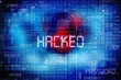 Computer data hacked, bits and digits on blue - 80058904
