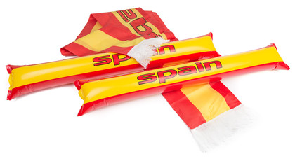 Fans Thundersticks - Spain Football Isolated
