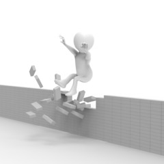 壁を越える人