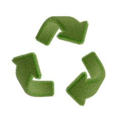 芝生のリサイクルマーク