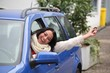 Leinwanddruck Bild - Führerscheinneuling