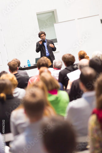 Speaker Talking at Business Conference. - 80062302
