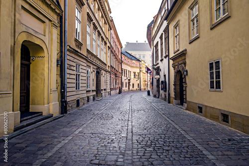 obraz lub plakat Ulica w starego miasta w Krakowie