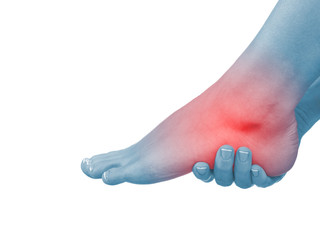 Pain in a foot. sports trauma