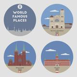 World famous places. Set 8