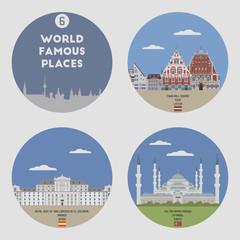World famous places. Set 6
