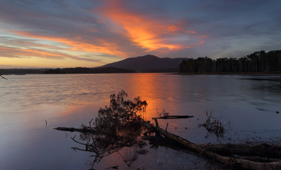 Sunset over Mt Gulaga NSW Australia