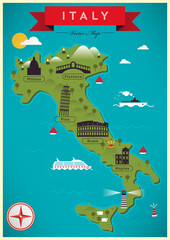 Map of Italy Vector Illustration