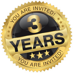 3 years - you are invited!