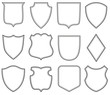 Collection of heraldic shield shapes - 80065992