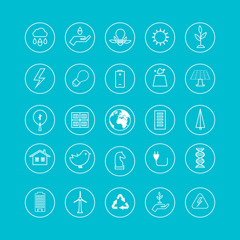 Flat design vector concept illustration with icons of ecology