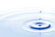 Leinwandbild Motiv Water drop falling down