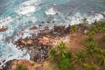 морской берег вид сверху