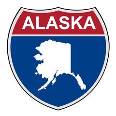 Alaska State interstate highway shield