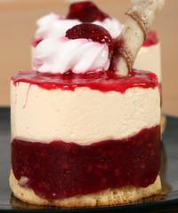 sweet raspberry cake dessert close up