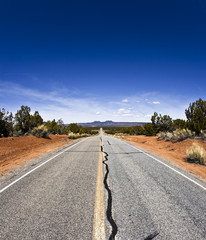 Country road in the desert