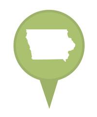 State of Iowa map pin