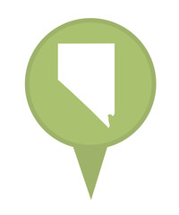 State of Nevada map pin