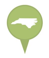 State of North Carolina map pin