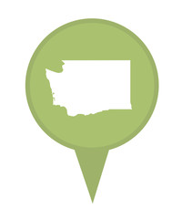 State of Washington map pin