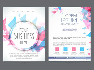 Two page brochure or flyer presentation for your business.