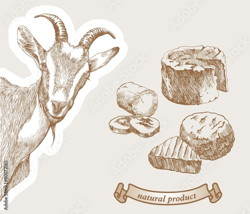 In de dag Zuivelproducten Goat and natural milk products