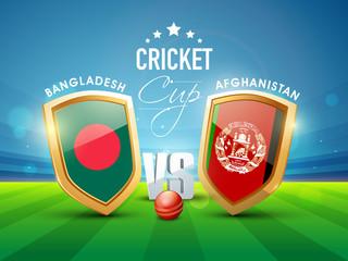 Bangladesh Vs Afghanistan Cricket match concept.