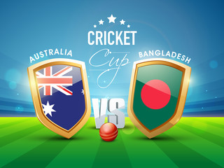 Australia Vs Bangladesh Cricket match concept.