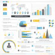 Big set of various business infographics elements.
