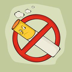 Anti smoking sign and symbol.