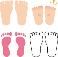 足の裏と足形
