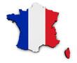 France Carte Flag Map - 80073598