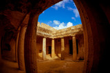 Tombs of the Kings, a famous tourist destination. Paphos distric