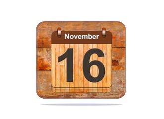 November 16.