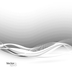 Abstract smooth swoosh line dotted noise background. Vector illu