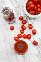 Tomatensaft, Tomaten, Flasche, Glas