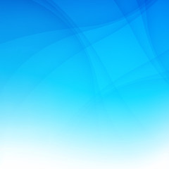 Modern blue smooth background abstraction with swoosh wave. Vect
