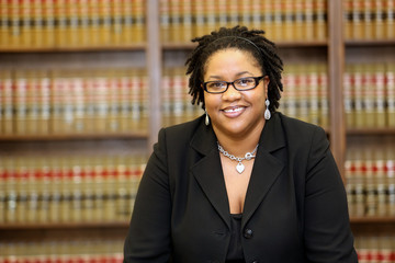 Young attractive African American Female Lawyer