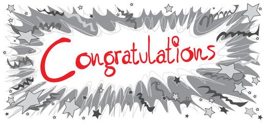 Congratulations Boom pencil black and red