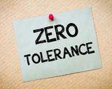 Zero Tolerance Message poster