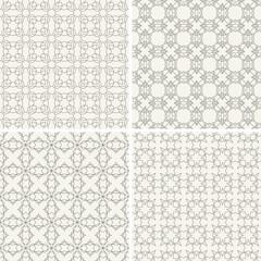 Geometric vector seamless patterns set