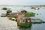 Asian aquaculture, La Nga river, floating house poster