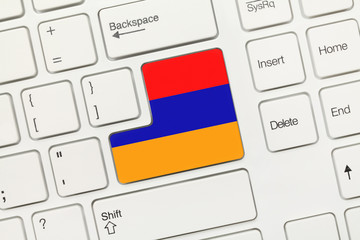 White conceptual keyboard - Armenia (key with flag)