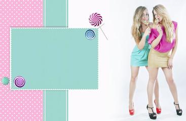Couple color lollipop