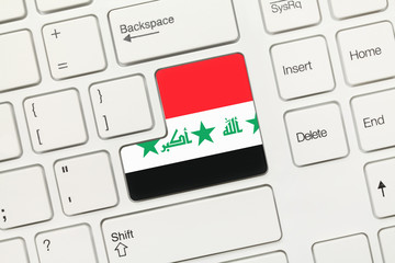 White conceptual keyboard - Iraq (key with flag)