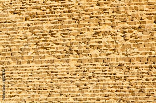 Fotobehang Egypte Great pyramid wall
