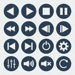 Vector music control icons. - 80078925