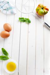 empty background, food ingredients